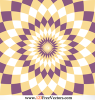 Abstract Optical Illusion Flower Backdrop Vector by 123freevectors