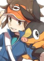 Tepig and Black :) by PikaMewHatred