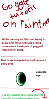 Goggle tutorial on paint.net by elyet123