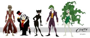 Catwoman: The Animated Series line up by rickytherockstar