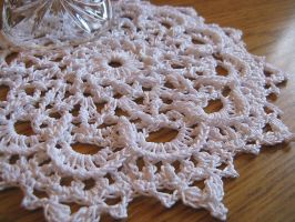 Textured Star Doily in White, No. 82 by doilydeas