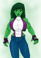 Modern Pant She-Hulk by CycKath