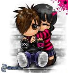 Emo love by OutsiderGirl95