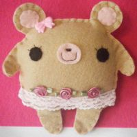 Emma the Ballerina Bear by hellohappycrafts