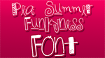 Pea Summer Funkyness FONT by HeyHelleen