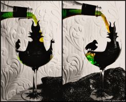Maleficent Wine Glass by Bonniemarie