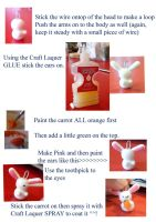 How to make a carrot bunny 2 by iluvyunho