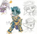Guild Wars 2 Asura Character Sketches by Aywren