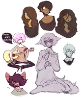 oc sketches by tearzahs