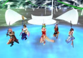 MMD DFF012 Girls Dance by FantasyYitan