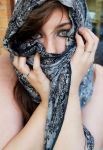 Portrait-2 - Scarf by NickiStock