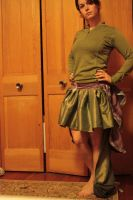Bustle Skirt -- Front view by Ledoux