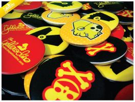Yellow Dino Buttons by theyellowdino