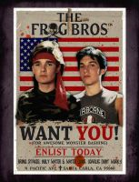 The Frog Bros WANT YOU by smalltownhero