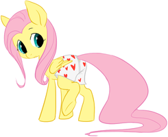 Fluttershy cosplays as Maximo by Elslowmo