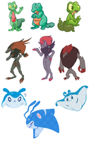 Pokemon Design Challenge (Tumblr) by aquamizuko