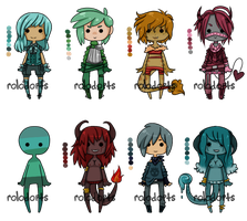 Tiny Base Palettes Set Two [open] by DeadEndAdopts