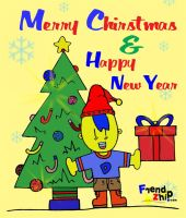 Merry Chirstmas, Hepi new Year by kn33cow