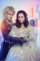 Jareth and Sarah - Labyrinth by adelhaid