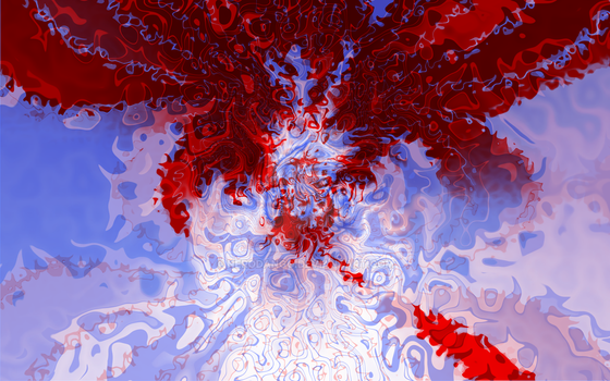 Canda Blue And Red Digital Painting by nerodango