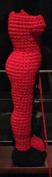 Wip Batman Animated Series side view by TheaterCrocheter