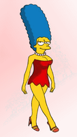 Marge as Lisa by paulibus2001