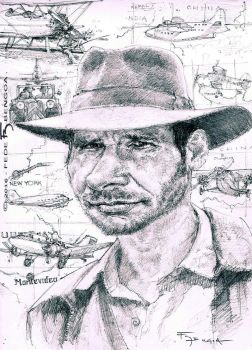Indiana Jones - Harrison Ford by FedeBengoa