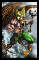 Hawkman Colored by hanzozuken