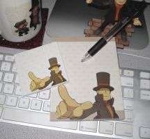 To The Point:  Custom Layton Stationery Set by zillabean
