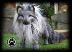 PERSONAL WORK! Eclip the Shadow guardian wolf OOAK by CreaturesofNat