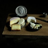 1:12 Scale Tudor Cheese by fairchildart