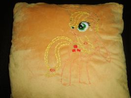 Applejack Minky Pillow 1 by Celestia-In-Love