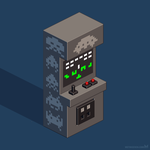 Space Invaders arcade cabinet by m7