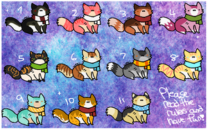 Cheap Cat Adoptables (4/11 are Open!) by BarleyandJazzy