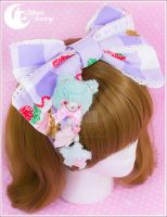 Pastel baby bear Brooch and hairclip by CuteMoonbunny