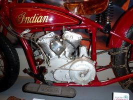 1928 Indian Hill Climb Motorcycle Engine by Caveman1a