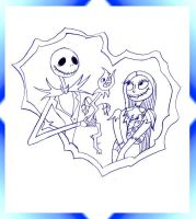 Jack and Sally by themusicdied