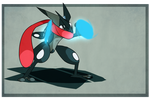 Shiny Greninja by Kingtankone