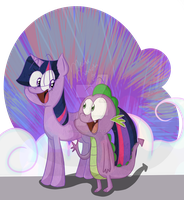 Twily and Spikey by CosmicPonye