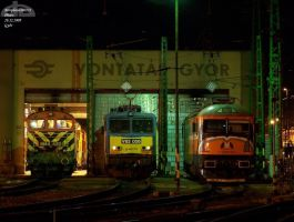 Locos in night in Gyor 2009 -1 by morpheus880223