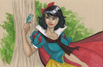 Snow White 11/27/2014 by Hodges-Art
