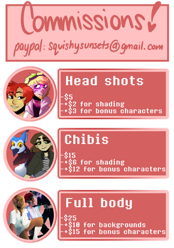 ~COMMISSION INFO~ by squizxy