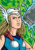 Sketchcard Thor by RichBernatovech