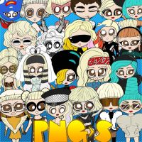 Pack Caricaturas Lady Gaga png by kozzmiqo