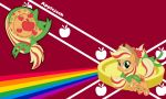 Applejack Rainbow Wall by Evilarticfox