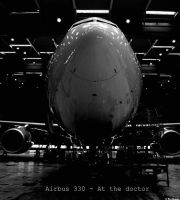 Airbus 330 in the hangar by strammebukserxD