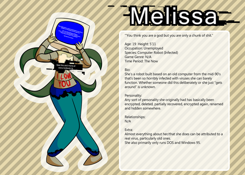 Melissa - Character Profile by cheesycoke