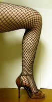 Leg - Fishnet Stock2 by D-is-for-Duck