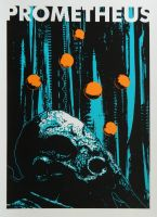 Prometheus Alternative Silk Screened Poster by r-k-n