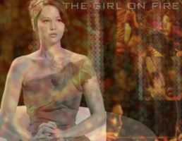 The Girl On Fire by MoreThanAnArtist